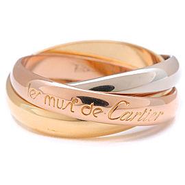 Cartier 18K Trinity Ring Size 6