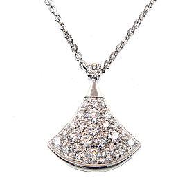 Bulgari 18K WG Diamond Pave Necklace