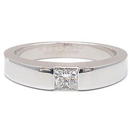 Cartier 18K WG Diamond Tank Ring Size 5