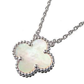 Van Cleef & Arpels 18K WG Vintage Alhambra Necklace