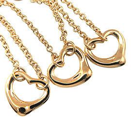 Tiffany & Co. 18K YG Elsa Peretti Open Heart Bracelet