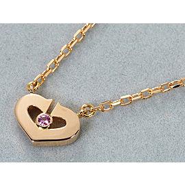 Cartier 18 PG Sapphire C Heart Necklace