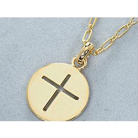 Cartier 18 YG Cross Necklace