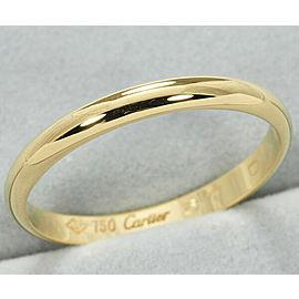 Cartier 18YG Wedding Ring Size 8