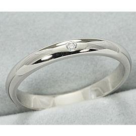 Cartier Platinum Diamond Wedding Ring Size 5.25