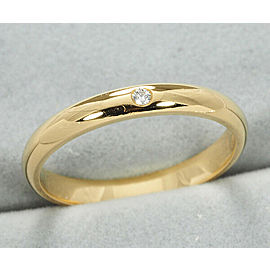 Cartier 18 YG Diamond Wedding Ring Size 4
