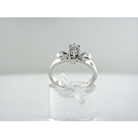 18K White Gold, 18K Yellow Gold Diamond Engagement Ring Size 6