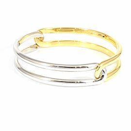 Cartier 18K YG/WG Open Bracelet