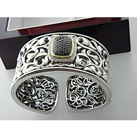 Charles Krypell Sterling Silver Diamond Bracelet