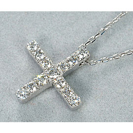 Gucci 18K WG Diamond Cross Necklace