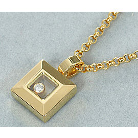 Chopard 18K YG Happy Diamond Necklace
