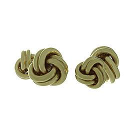 Tiffany & Co. 14K Yellow Gold Love Knot Cufflinks
