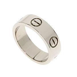 Cartier 18K WG Love Ring Size 4.75