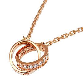 Cartier 18K PG Baby Love Half Diamond Necklace