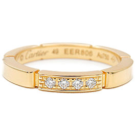 Cartier 18K YG 4P Diamond maillon panthère Ring Size 5