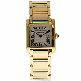 Cartier Tank Francaise W50014N2 Mid-Size 18K Yellow Gold Papers/Warranty #339-1