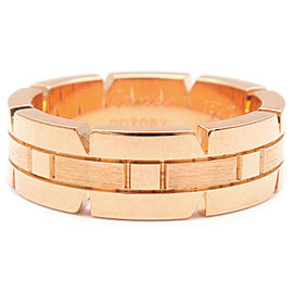 Cartier 18K RG Tank Francaise Ring Size 6