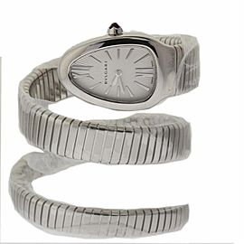 Bvlgari SERPENTI 35 mm Steel SP35C6SS.2T Silver Quartz