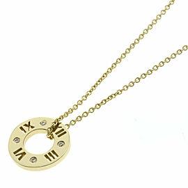 TIFFANY&Co. 18K YG Atlas Circle Diamond Necklace