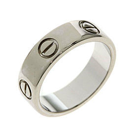CARTIER Ring love ring # 50 18K White Gold