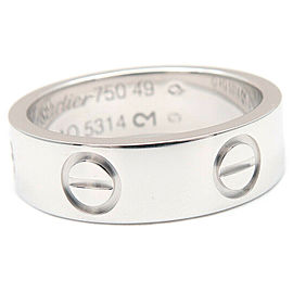 Cartier 18K WG Love Ring Size 5
