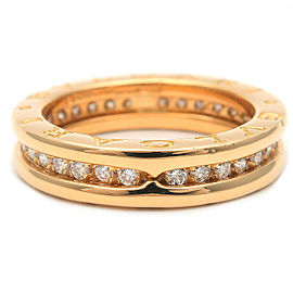 BVLGARI 18K YG B-zero1 Full Diamond Ring Size 6