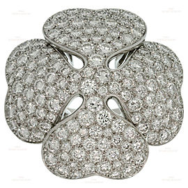 CARTIER Anniversary Edition 10 Carat Diamond 18k White Gold Clover Ring