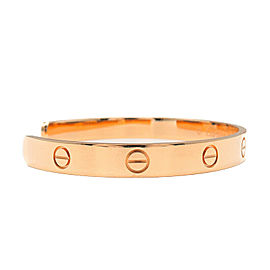 Authentic Cartier Love Bracelet Open Bangle 18KPG Size #19 Rose Gold Used F/S