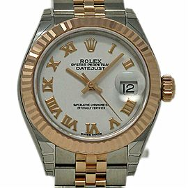 Rolex Datejust 279171 White Roman Steel/Rose