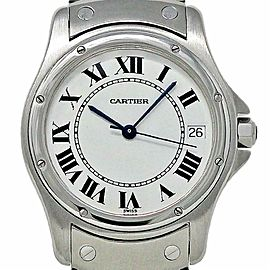 Cartier Santos Ronde 33mm 1920 Stainless Steel White Automatic