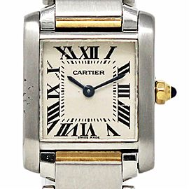 Cartier Tank Francaise W51007Q4 Small Stainless Steel Yellow Gold 2YrWTY #509