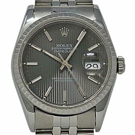 Rolex Datejust 16220 36mm Stainless Steel Silver Jubilee