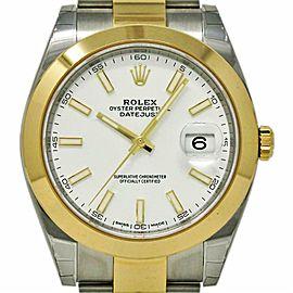 Rolex Datejust II 126303 41mm Steel Gold White 2019