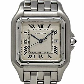 Cartier Panthere Jumbo Stainless Steel W25032P5 White Quartz