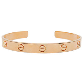 Authentic Cartier Love Bracelet Open Bangle 18KPG Size #17 Rose Gold Used F/S