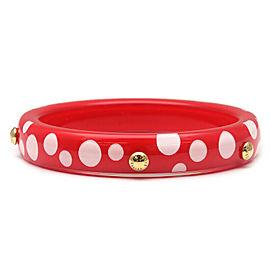 Authentic Louis Vuitton Yayoi Kusama 2012 Bracelet Bangle Red M66684 Used F/S