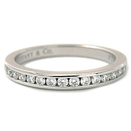 Auth Tiffany&Co. Half Circle Channel-set Diamond Ring PT950 US4.5 EU48 Used F/S