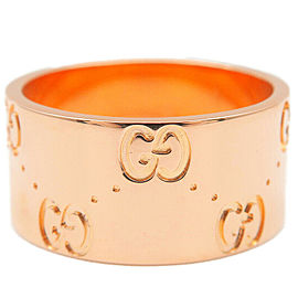 Authentic GUCCI ICON Wide Ring K18PG 750 Rose Gold #11 US5.5-6 EU51 Used F/S