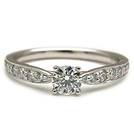 Auth Tiffany&Co. Harmony Diamond Ring 0.22ct Platinum US4 HK8 EU47 Used F/S