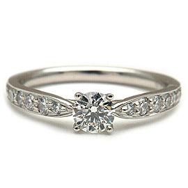 Auth Tiffany&Co. Harmony Diamond Ring 0.22ct Platinum US4 HK8 EU47 Used F/S