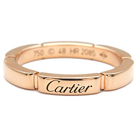 Authentic Cartier maillon panthère Ring Rose Gold #48 US4.5 HK9.5 EU48 Used F/S