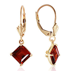 3.2 CTW 14K Solid Gold Carrie Garnet Earrings