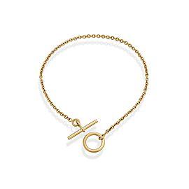 Hermes 18K Yellow Gold Mini Chaine D'ancre Bracelet