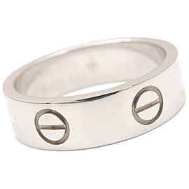 Authentic Cartier Love Ring 18K 750 White Gold #53 US6.5 HK14 EU53 Used F/S
