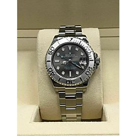 Rolex Midsize Yacht Master 268622 Stainless Steel and Platinum Box & Papers 2017