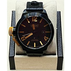 U-Boat Classico Golden Crown 45 18K Yellow Gold & Black PVD Steel Box & Paper
