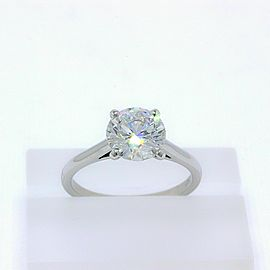 De Beers Platinum Diamond Engagement Ring Round 2.05 ct H VS2 $64,000 Retail