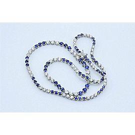 Tiffany & Co Victoria Platinum Diamond Sapphire Necklace 11.68 ct F VS $49K Ret.