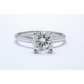 Leo Diamond Engagement Ring Round 1.97cts H SI1 14k White Gold Retail $36,000