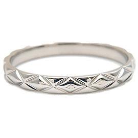 Auth CHANEL Matelasse Ring Small Platinum PT950 #58 US8.5 HK18.5 EU58 Used F/S